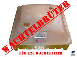 Wachtel Inkubator - Incubator - Brutmaschine - Brutapparat - Motorbrüter bis 120 Eier
