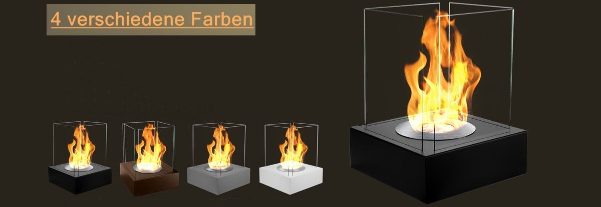 Schwarzes gartenfeuer 40x40x52 cm ethanol kamin - Gartenfeuer ethanol ...