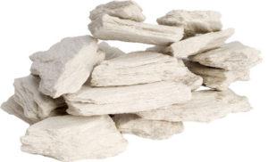 Weiße Bruchsteine Gel- und Ethanol-Kamin DEKORATION Gelkamin Bio-ethanolkamin